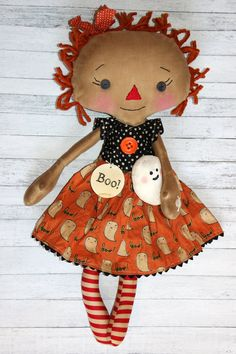 HAFair Halloween Dolls by Anne Crowe on Etsy