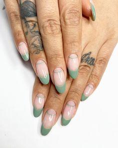 Sage for a rainy day 🌿🌿🌿 . Nagellack Trends, Fire Nails, Cute Acrylic Nails, Cute Gel Nails, Bad Nails, Minimalist Nails, Dream Nails, Stylish Nails, Perfect Nails