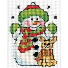 Tobin-Mini Counted Cross Stitch Kit With Frame. These fabulously festive kits by Tobin include everything you will need to add color, warmth and fun to your next holiday season. This package contains