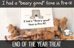 End of the Year Treat Bag Topper