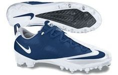 Nike Zoom Vapor Carbon Fly Td Football Cleats White/Navy Blue, via https://myamzn.heroku.com/go/B003VKZRUY/Nike-Zoom-Vapor-Carbon-Fly-Td-Football-Cleats-White-Navy-Blue