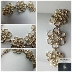 "Sterling Silver ""Daisy"" Bracelet #DaisyBracelet #MaileJewelry #GiftSetForWoman #Japanese12In2 #HandmadeBracelet #HandmadeInNorway #ExclusiveSet #SilverDaisy #SilverBracelet #ChainmailleBracelet Daisy Bracelet, Daisy Ring, Handmade Bracelets, Handmade Gifts, Gift Sets For Women, Chainmaille Bracelet, Sterling Silver, Unique Jewelry, Shop"