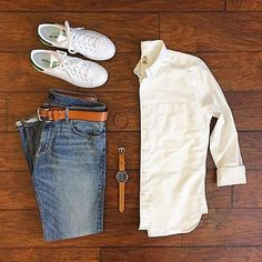 White shoes and white shirt, classic 🙌💯 Follow for more: @votrends 👈👈 Outfit by📷: @chrismehan
