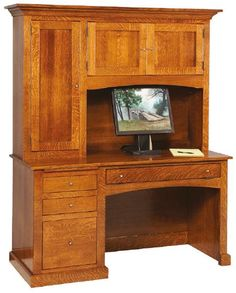 Custom Amish Mission Student Desk High X Wide X Deep - 36 desk with drawers
