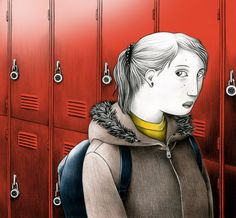 NYTimes Book Review Cover by Gabriella Giandelli about bullying