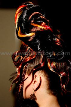 Another creative hairstyle, found on pinterest.