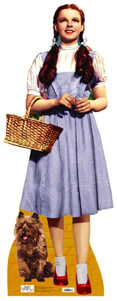 Judy Garland as Dorothy in The Wizard of Oz (1939) wearing a gingham dress by Adrian Adolph.
