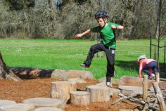 Pioneer Park is one of several THPRD sites that uses natural elements to encourage unstructured and imaginative play.