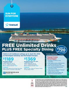 Featured Promotion - FREE Unlimited Drinks Plus FREE Specialty Dining