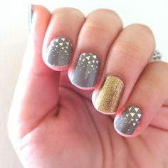 Jamberry Nail Wraps in Urban Lights and Gold Sparkle ~ $15 a sheet, enough for 2 full mani AND 2 full pedi
