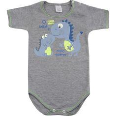 Body Bebê Menino Esperto Cinza - Patimini :: 764 Kids | Roupa bebê e infantil