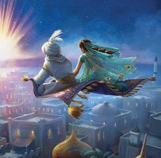 Via Look at that beautiful Aladdin and Jasmine painting flying on the magic carpet of the Live… Film Aladdin, Aladdin Art, Aladdin Live, Aladdin Quotes, Film Disney, Arte Disney, Disney Magic, Disney Movies, Aladdin Et Jasmine
