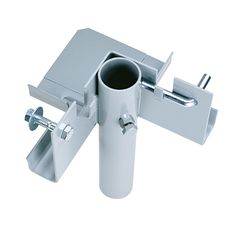 """Joins three dock sections together at a right angle. Stainless Steel,  adjusting bolt and hexnut.  Heavy Duty.Inside dimensions for the pipe are 2.02""""  Product Number:TD-20037"""