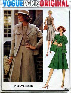 1970's Vogue Paris Original Pattern
