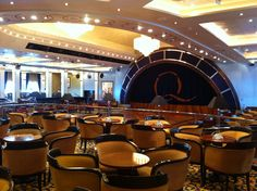 The Queens Room on board Queen Mary 2.