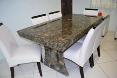 Mesa  de Cozinha em Granito Verde Marinace