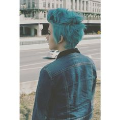 Pinterest: Discover and save creative ideas ❤ liked on Polyvore featuring blue hair, hair and pictures