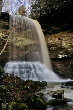 Lower Branch Falls in the New River Gorge Region, West Virginia by Ed Rehbein