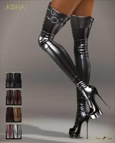 50 Knee High Shoes To Inspire - New Shoes Styles & Design Thigh High Boots, High Heel Boots, Over The Knee Boots, Heeled Boots, Bootie Boots, Talons Sexy, Leder Boots, Botas Sexy, High Shoes