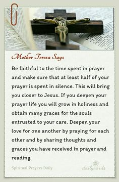 """""""at least half o you prayer SPENT IN SILENCE""""---definitely advice I plan to pin in a special place and try to follow."""