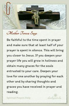 ~St. Mother Teresa says..