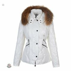 Superior Quality Moncler Lontre Womens Down Jackets Shiny In White http://www.cheapmoncleroutlet2014.com