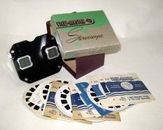 VINTAGE 1940'S VIEW-MASTER, got one just like this for Christmas, with lots of slides.