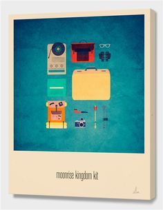 """Moonrise Kingdom Kit"", Limited Edition Canvas Print by Alizée Lafon - From $85.00 - Curioos"