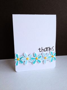 Thanks card by Lisa Addesa - Paper Smooches - Reflections stamps and dies Cute Cards, Diy Cards, Your Cards, Thank U Cards, Tarjetas Diy, Paper Smooches, Paper Cards, Flower Cards, Creative Cards