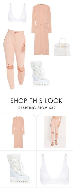 """""""Untitled #2305"""" by mollface ❤ liked on Polyvore featuring Theory, Missguided, Casadei, Vitamin A and Hermès"""