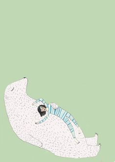 lay back and relax. such a calming illustration.