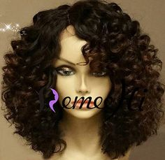 """14"""" Brazilian Kinky Curly Human Hair Full/Front Lace Wigs Density 150% 