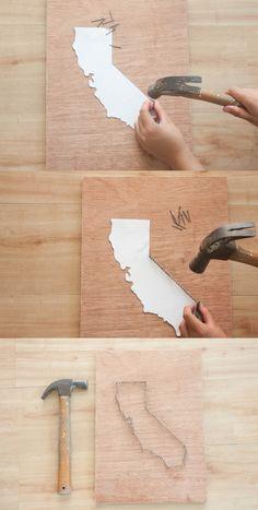 DIY String Art Projects   Wall Art Ideas by DIY Ready at http://diyready.com/diy-crafts-string-art-tutorial
