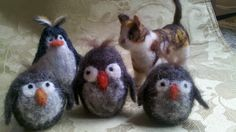 The rest of the felted guys I made