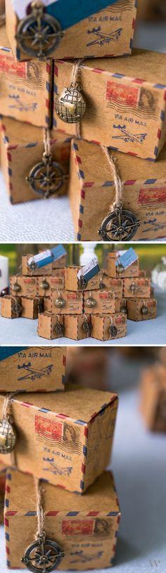 Creative Mariage Souvenirs invités Boussole étiquettes Label Voyage Themed Party Favors