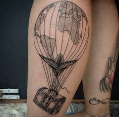 Air Balloon Tattoo. By Paco Anes. Instagram: @pacotatuaria