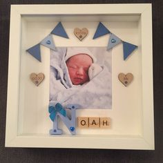 Handmade Personalised New Baby Frame Christening Gift Source by Homemade Baby Gifts, Diy Baby Gifts, Baby Crafts, Baby Photo Frames, Baby Frame, Cadre Photo Diy, Diy Photo, Baby Boys, Diy Bebe