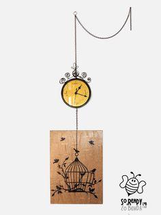 Orologio? Si ma anche quadro!!! Interamente dipinto e realizzato a mano!! #interiordesign #ecodesign #soreadystyle #recycle #design #furniture #style #handmade - di So.Ready Lab - soreadylab.etsy.com