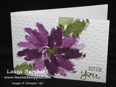 Embossed Flower Card by stampinandscrapboo - Cards and Paper Crafts at Splitcoaststampers