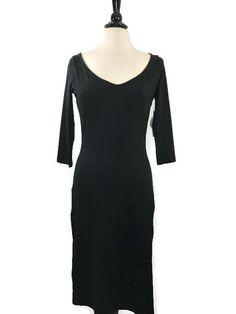 NEW SUSANA MONACO Size L Large Alex Black 3/4 Sleeve Sheath Dress Womens USA NWT #SusanaMonaco #Sheath #Cocktail