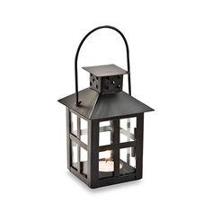 Kate Aspen Mini Lantern Black Tealight Holder Wedding Favor