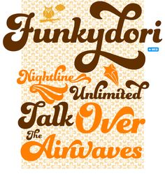 """Often dubbed """"the decade that taste forgot"""" the Seventies were actually an exhilarating time for formal experiments in popular culture, and Funkydori perfectly captures the groovy and far out atmosphere of the era. #fonts #type"""
