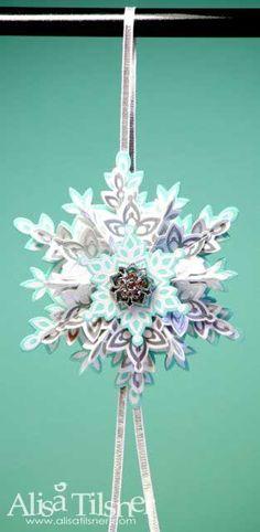 2013 Holiday Blog Hop by Alisa Tilsner Ornament/Tag #alisatilsner  #festiveflurry