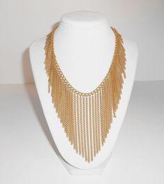 Trifari Multi Chain Vintage Bib Necklace