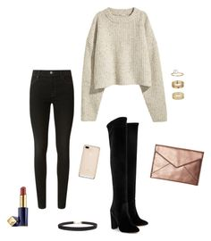 A fashion look from November 2016 featuring thick knit sweater, skinny leg jeans and black block heel boots. Browse and shop related looks. Black Block Heel Boots, Block Heels, J Brand, Miss Selfridge, Rebecca Minkoff, Aquazzura, Chic, Skinny Legs, Heeled Boots