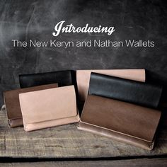 Our Keryn and Nathan wallets. Now available in three new colors. #leatherwallets #essentials #mensaccessories www.basandlokes.com