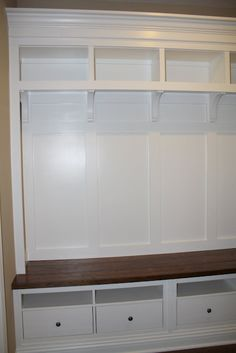 Mudroom Storage with 4 lockers - Ikea Base Cabinets