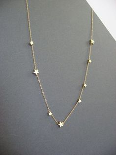 Wishing on a star necklace Gold Star necklace by Muse411 on Etsy