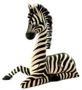 Zebra Laying Down - I need this for Lydia's room!