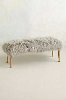 Furry Bennch Anyone?  - Anthropologie
